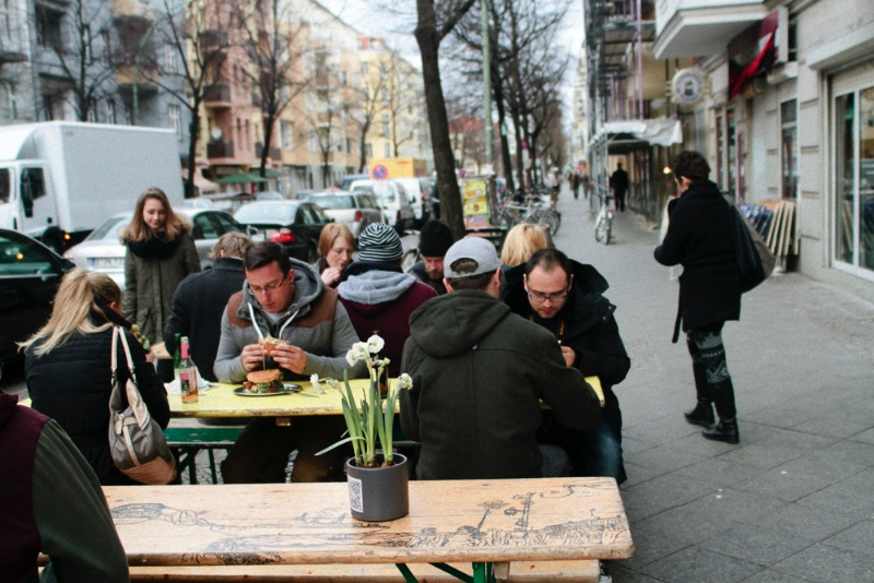 If you are looking for the best burger in Berlin, you will find it at BBI – Berlin Burger International. We did the research and every burger we tasted pointed to this tiny burger joint on Pannierstraße. If you don't believe us, just look at the pictures below, take the bus and go there. Try it and i bet you are going to have one of the best burger experiences of your life. This is not a joke.