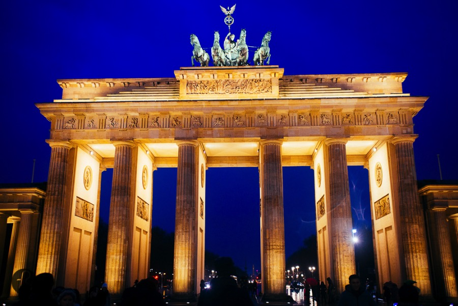 Spend a few minutes staring at the grandiose Brandenburg Gate