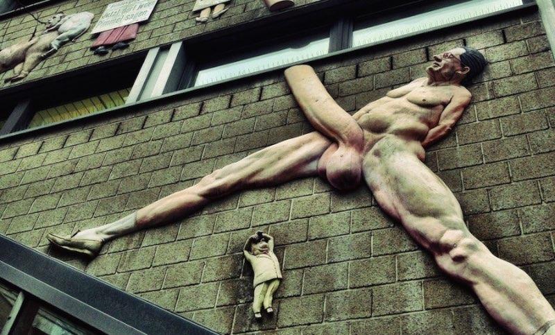 Bizarre Landmarks: Giant Penis on Rudi Dutschke Straße