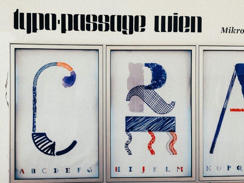 Typopassage Vienna, a designer's paradise