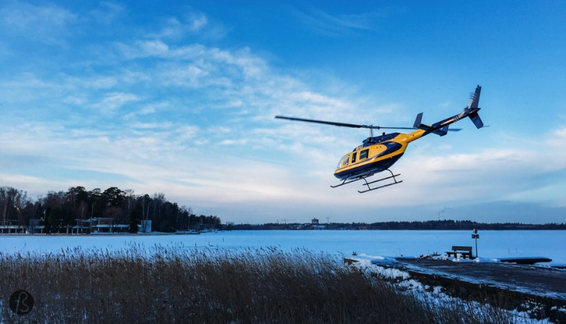 Helsinki from Above: a Helicopter ride over Helsinki