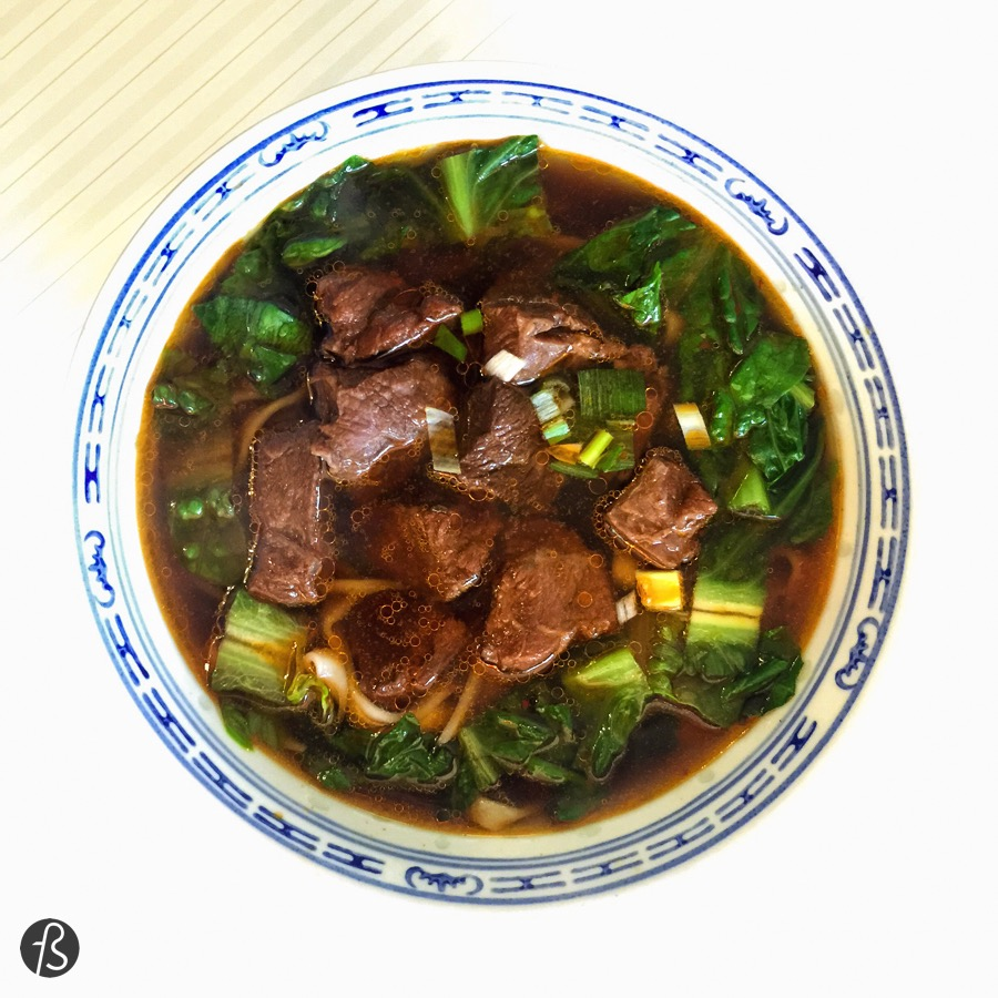 When you go to Beef House, you have to ignore the menu above the counter and focus on the menu they are going to give you. If you have never eaten taiwanese food, the first thing you have to try is the beef noodles. They are the best thing here. It comes in this huge bowl and it is spicy. If you want to try something else, go for the zongzi (rice dumplings) and the fried and cooked dumplings. They are great!