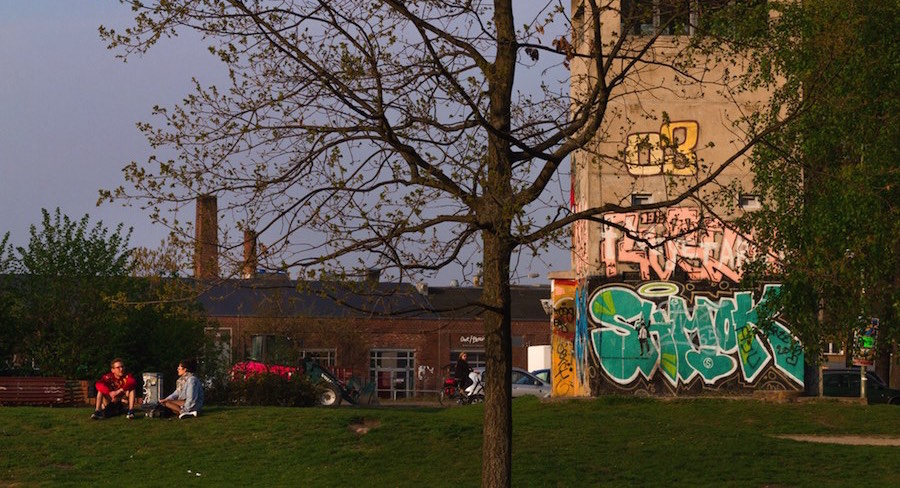 East German Watchtower on Schlesisches Busch