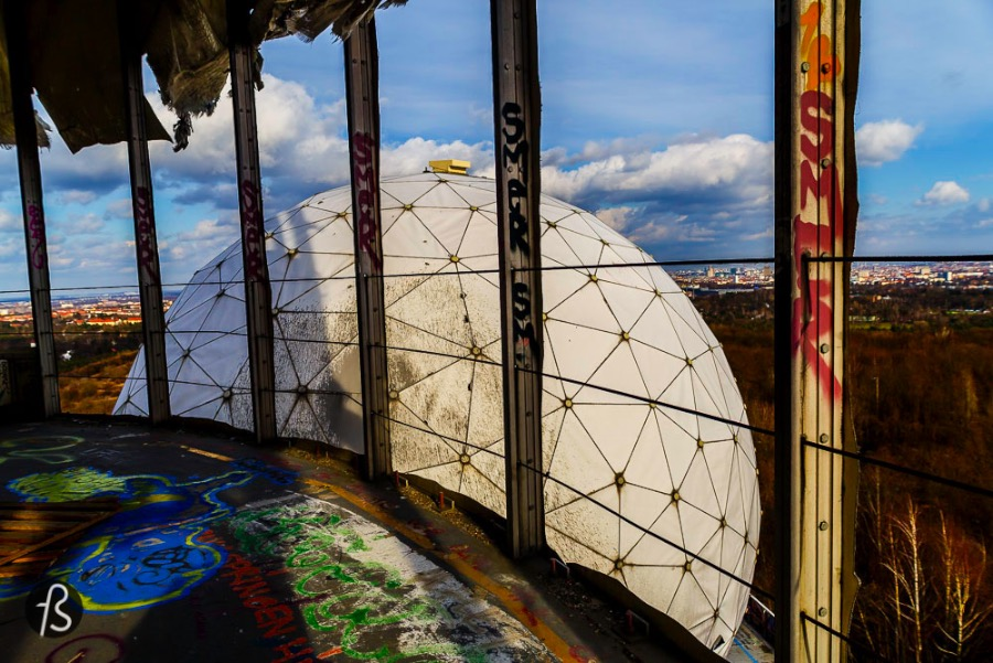 Teufelsberg, german for Devil's Mountain, is a man made hill in the middle of the Grunewald forest. It rises about 80 meters above the city and it got its named after the Teufelsee, a lake close by.
