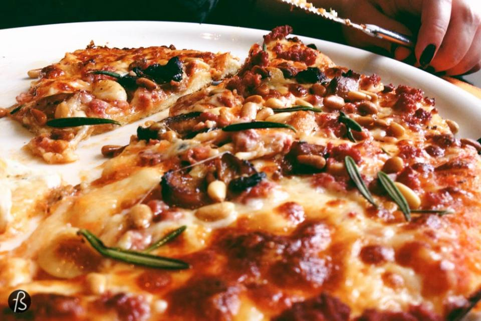 One of the most curious pizzas we've ever had the pleasure to try and approve was the reindeer pizza from Gabriel 1763. The restaurant has more than just pizza, of course, but if you go there, please give the pizza a chance.