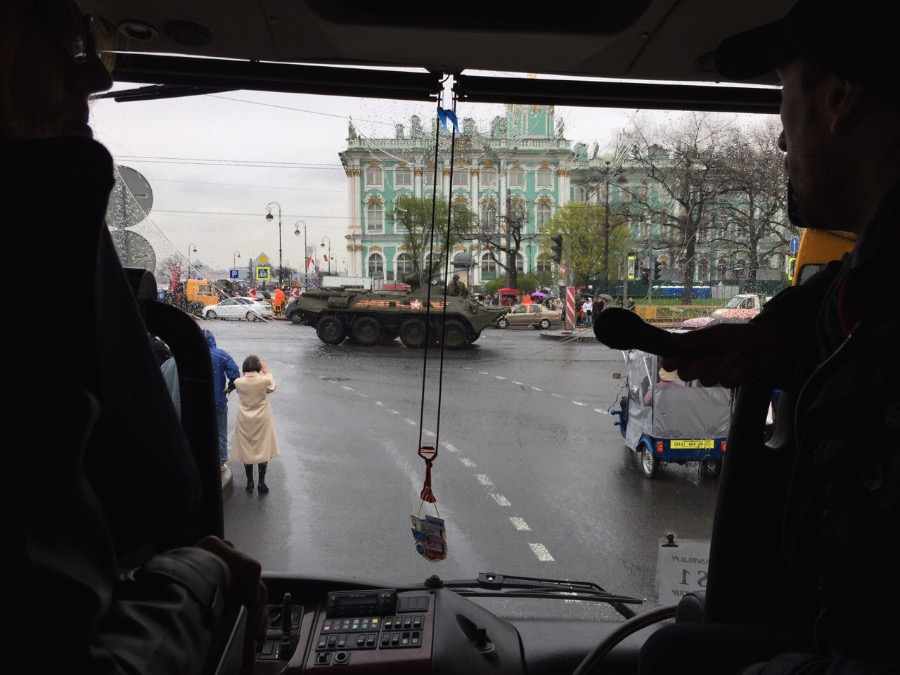 In Russia, the traffic jam is caused my nuclear bombs and war tanks At least on the days before the big military parade it is! hahahaha I can only hope that this is not the everyday Russia =D