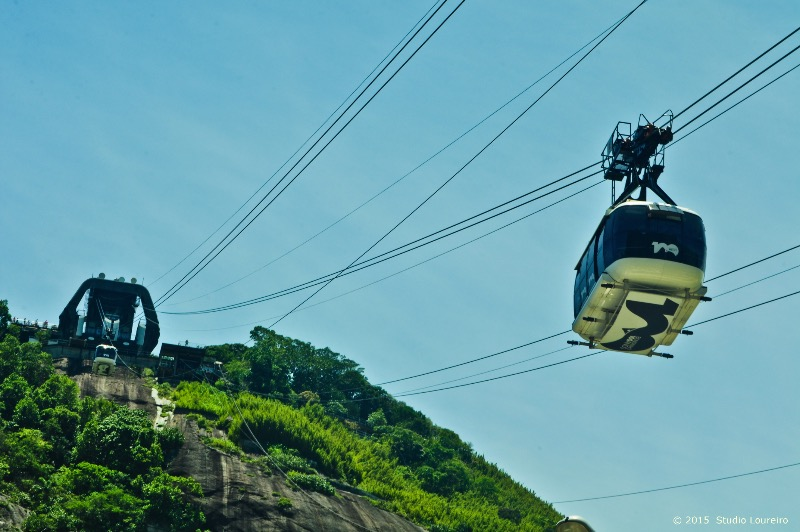 Rio de Janeiro - City of Wonders_Sugarloaf Cable car, or how Brazilians call it: the famous 'Bondinho do Pão de Açúcar' is, one of the icons that displays the magnificent overview from Urca Mountain. From there, you can see the wonders that Rio has to offer: the view of Niteroi (small town from Rio de Janeiro), the beaches of Copacabana, Leme, Ipanema, Botafogo, Flamengo, the Gávea Stone, Christ Redeemer, Guanabara Bay and much more.