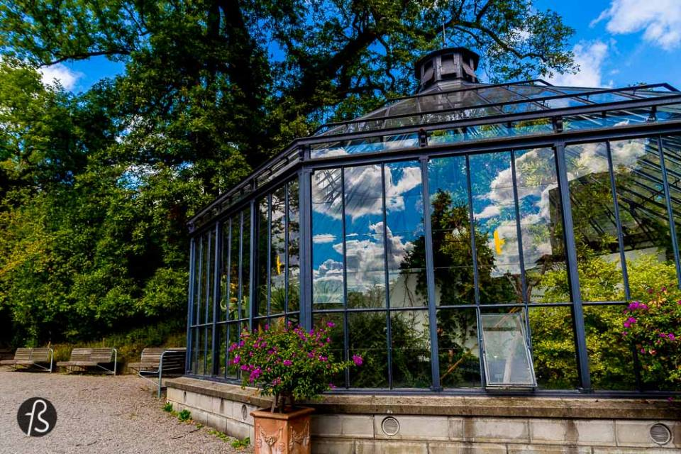 Six Hours in Zurich - But we want to visit the gardens and find the beautiful Palmenhaus, built in 1851. On the hilltop, you will find Gessner-Garten, a medieval herb garden in memory of Conrad Gessner, a famous swiss botanist, physician and classical linguist.