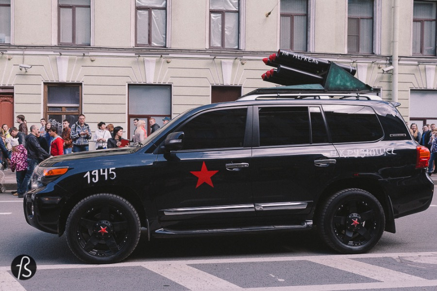 In Russia, is ok to transform your SUV into a Katyusha Katyushas were the nickname of this missile launcher very famous in the WWII. Some say that katyushas were decisive on Nazi Germany's defeat.