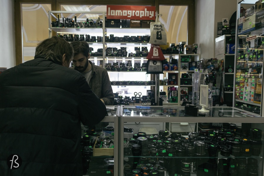 In Russia, Lomos are sold for less than 5 euros! And other Russians and Soviet cameras too! This place here has the best and most amazing collection of vintage cameras we've ever seen! Book your trip to Russia and bring extra space for the huge amount of films and cameras you're going to buy!