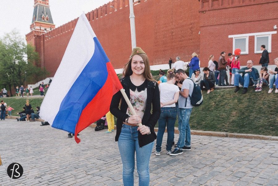 In Russia, they are as patriotic as USA And after a few days in Russia you realize that the cold war was just a fight between two twin brothers. USA and Russia are the same in many ways.