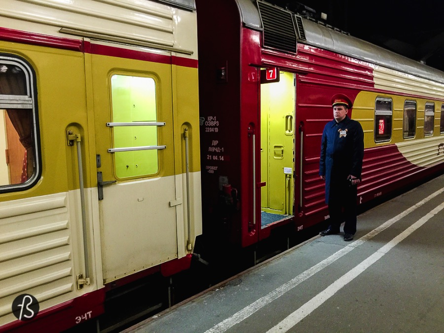 Our train and its amazing Russian employers