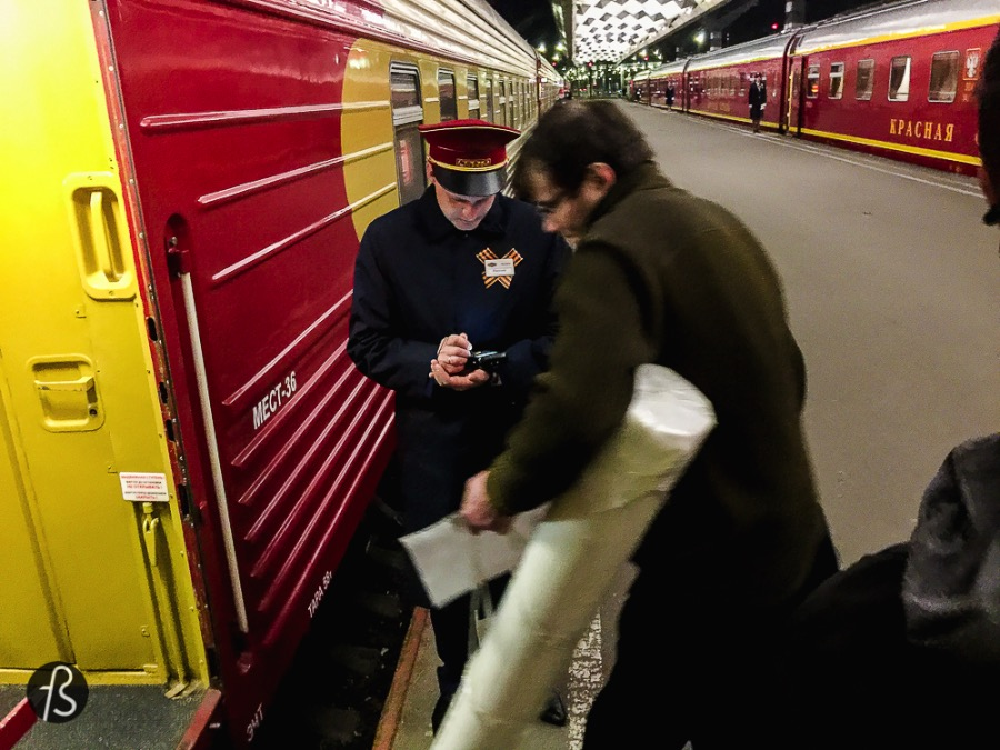 Yeap, they check if you're on the right train with electronic devices because: fuck paper