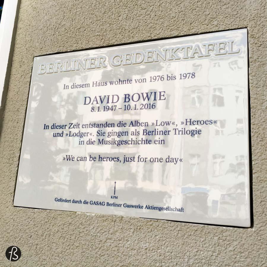 David Bowie's house gets a memorial plaque