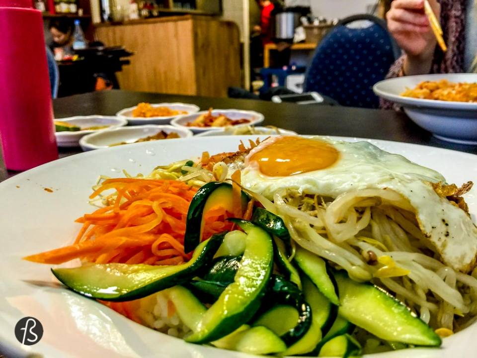 Arirang is a North Korean restaurant that used hide in the depths of Wedding like I said, than moved to Charlottenburg and now has another convenient branch in Kreuzberg. This restaurant have some most authentic and well-cooked Korean food in Berlin. The dishes come in a huge quantity and will definitely make you're more than happy if you're searching for a serious Korean experience. A North Korean experience, I might add. Arirang Berlin is North Korea in B
