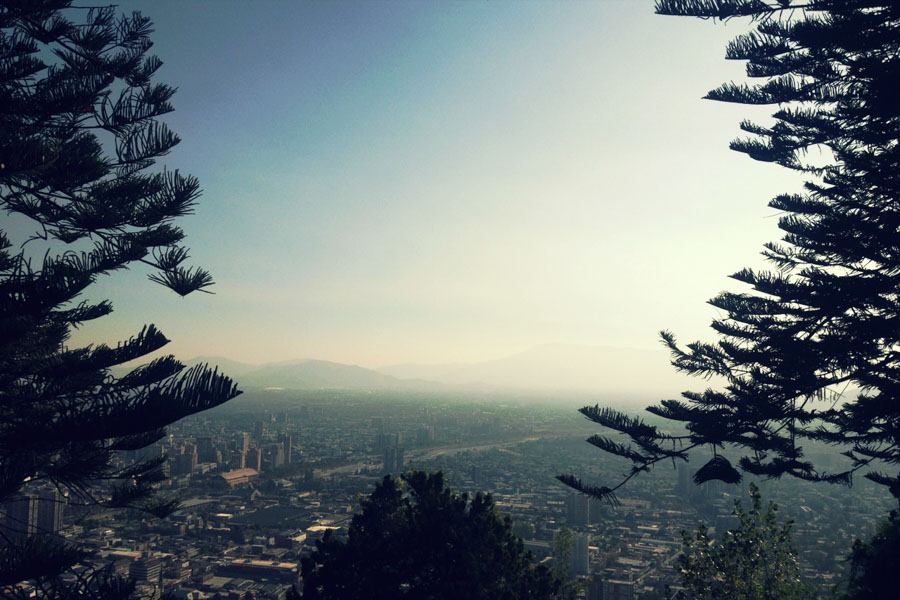 Cerro San Cristobal in Santiago, Chile