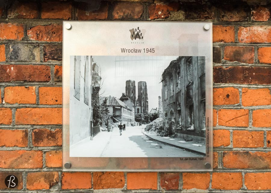 In the post-war years, Wrocław was rebuilt and rejuvenated. When you see pictures of how the city was after the Second World War, you can barely believe how it looks today.