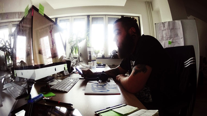 Working in Berlin: Yes, this is me working in Berlin back in 2014.