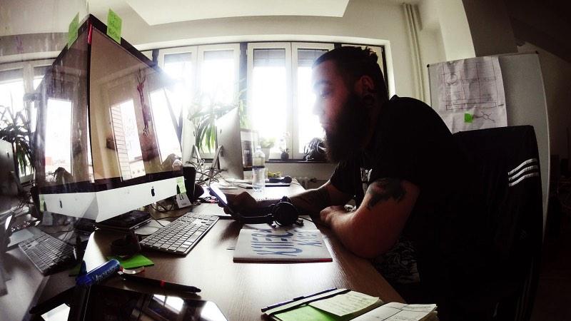 Working in Berlin: Yes, this is me working in Berlin back in 2014.