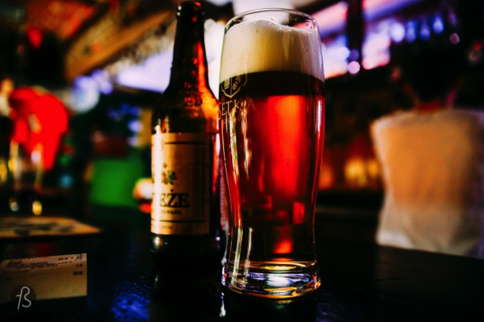 I gonna start this small Poznan beer guide with my favorite bar in the city: Setka Pub. I was there twice and every time, I had amazing beers that I never saw before in my life. This pub is a hidden treasure and one of the most amazing beer bars Poznan has to offer.