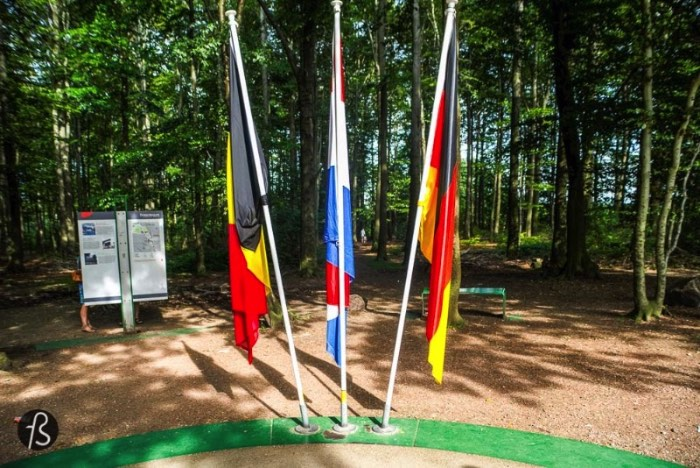 Three Country Border: Where Germany, Netherlands and Belgium meet
