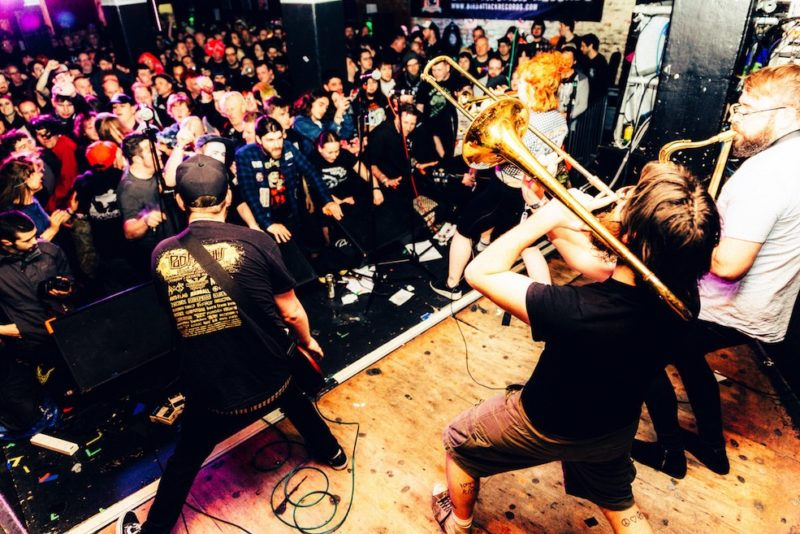 Canon EF 14/2.8L II USM: A Travel Photographer Review - Check a live Manchester Show with real Manchester Bands My brief visit to Manchester happened because I went to see the super cool Manchester Punk Festival. This year the line up had big names like the Flatliners, Bouncing Souls and Oi Polloi. I will admit here that my 16 years old self was so happy to finally see Oi Polloi live that I cannot put into words here. oi polloi manchester punk festival music live bands