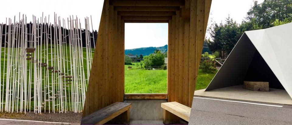 Architect Designed Bus Stop Krumbach in Vorarlberg