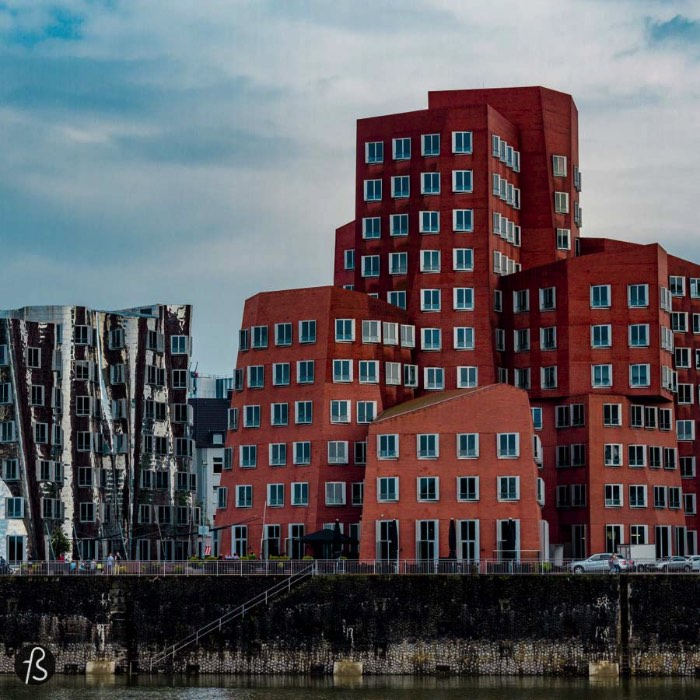 When Dusseldorf decided to modernize its harbor, the city invited famous architects that are given an empty canvas for them to create. One of this architects was Frank O. Gehry and what he designed for the city became Neuer Zollhof aka the Gehry Buildings and one of the main sights of this german city by the Rhine river.