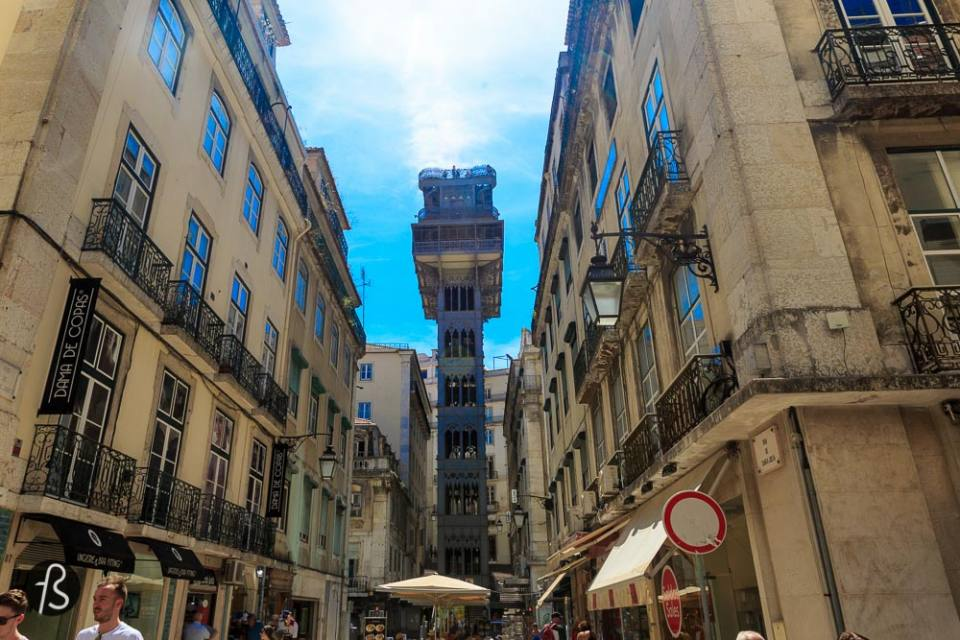 things to do in lisbon - The majestestic Elevador de Santa Justa If you're walking around Baixa, you'll see this gigantic piece of architecture for sure. From it you'll have one of the best views of Lisbon's old town. It was built more than 100 years ago by Ponsard, one of the disciples of the great Gustave Eiffel. Yes, Eiffel from the Eiffel Tower in Paris. This lift follows the same style as the iconic parisian tower and it is just wonderful. Connecting the streets of Baixa with the Largo do Carmo, the Elevador de Santa Justa - or just Carmo Lift - is a must.