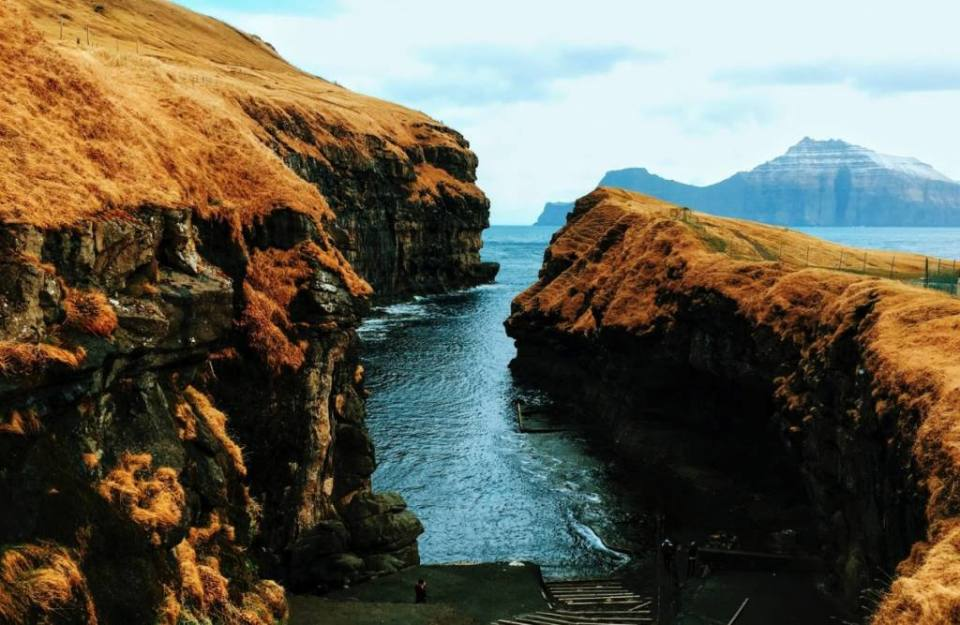 Exploring Gjogv in the North of Faroe Islands