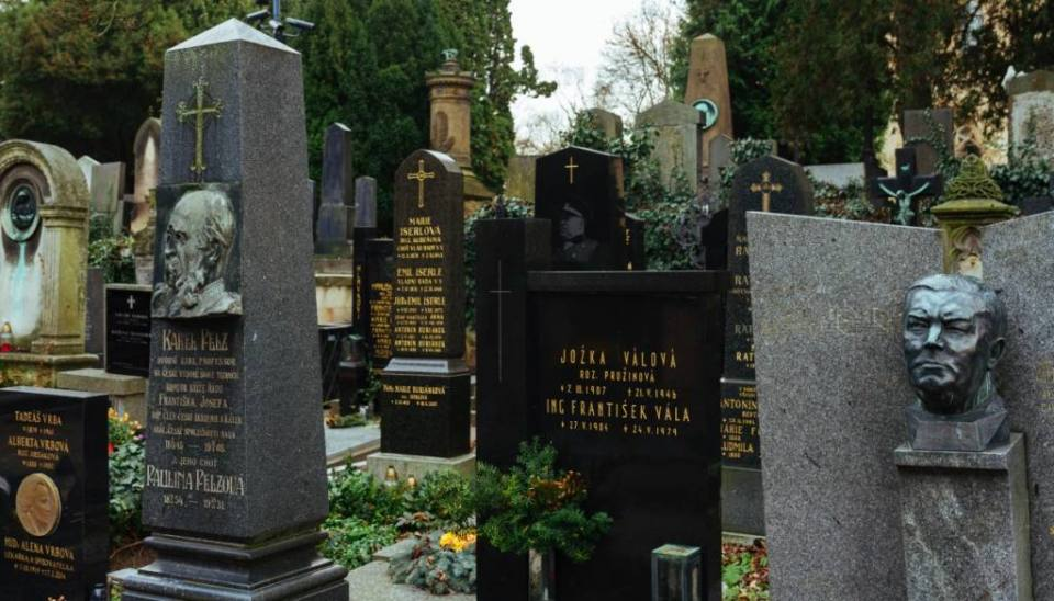 A visit to Vysehrad Cemetery and Slavin in Prague