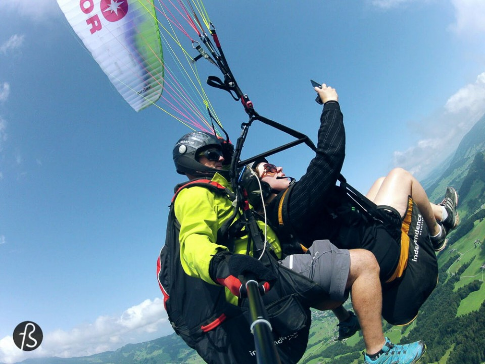 How is it like to do paragliding in Vorarlberg?