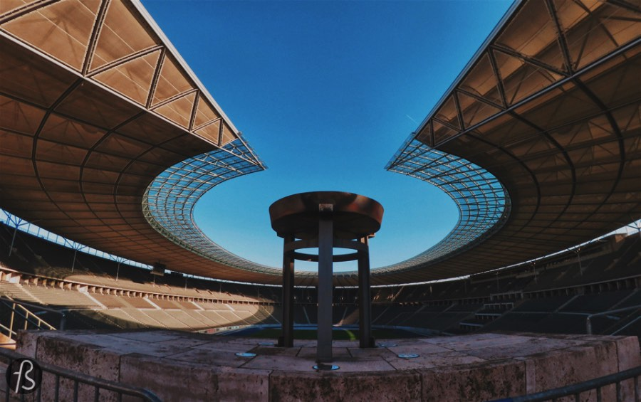 We already mentioned how beautiful we think the Olympiastadion is. From the architectural beauty of its columns to the geometrical way its seats create patterns, the stadium is a must see even for people that don't care much about sports.