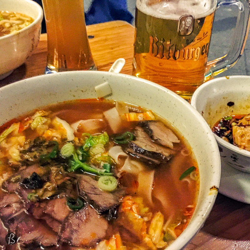 After an afternoon of photography culture, you will be hungry. My tip is to go to Kantstrasse and explore what some people consider to be Berlin's China Town. There you will walk through a lot of restaurants until you stop to have dinner at Lon Men's Noodle. This original Taiwanese noodle house serves fantastic food in a simple location right by the street.