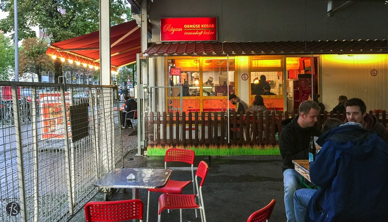 Rüya has the best chicken döner that I ever had in Berlin. You can find them, free of a long queue, on Haupstrasse in Schöneberg. Go there with your friends and show them how good a chicken döner can be.