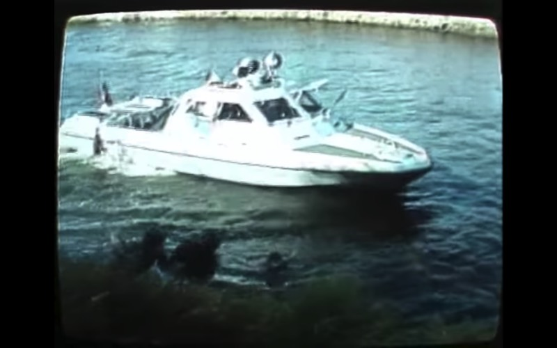 Escaping East Germany: Swimming Across the Spree into West Berlin in Video