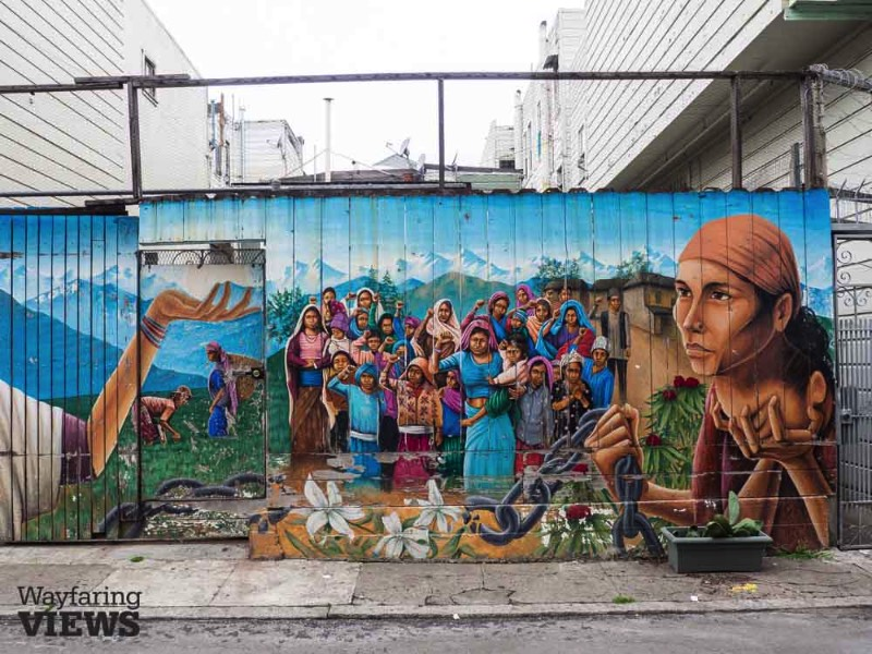 San Francisco's Mission neighborhood boasts an evolving immigrant history. It was once a Spanish settlement which evolved into a series of German, Irish and Italian communities before becoming a predominantly Latino neighborhood in the 1960's.