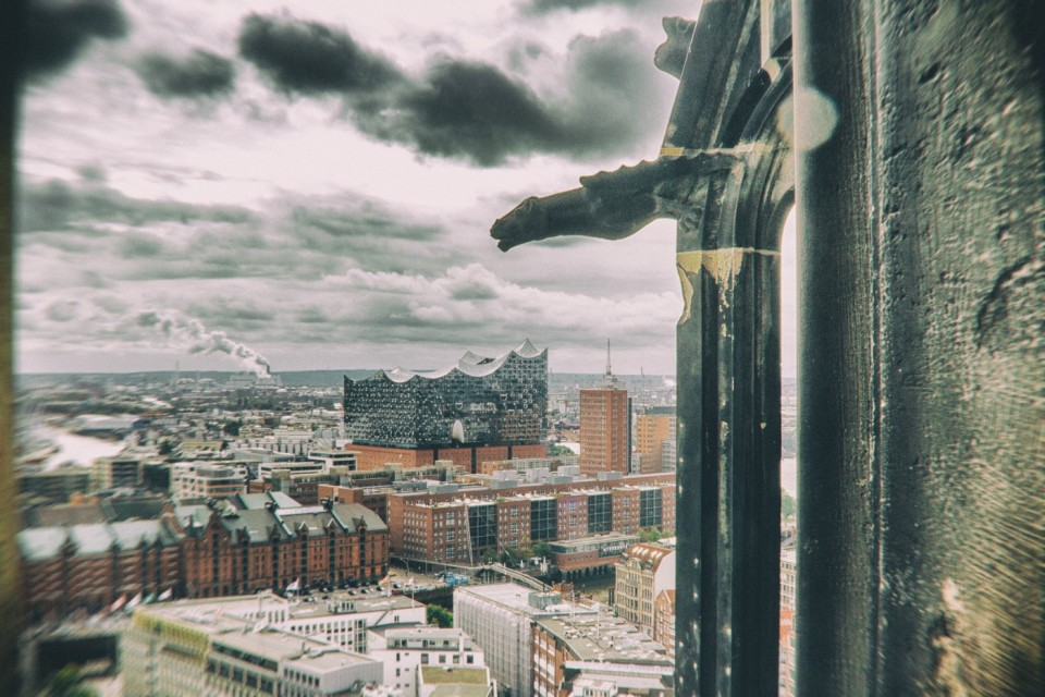 The View from St. Nicholas Church in Hamburg