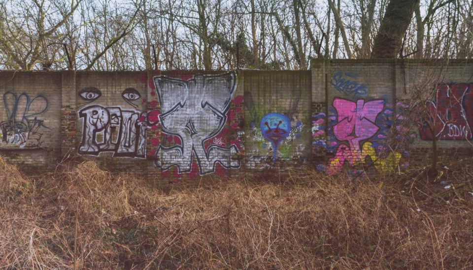 The Newly Found Original Berlin Wall that was lost in the woods in Schonholz