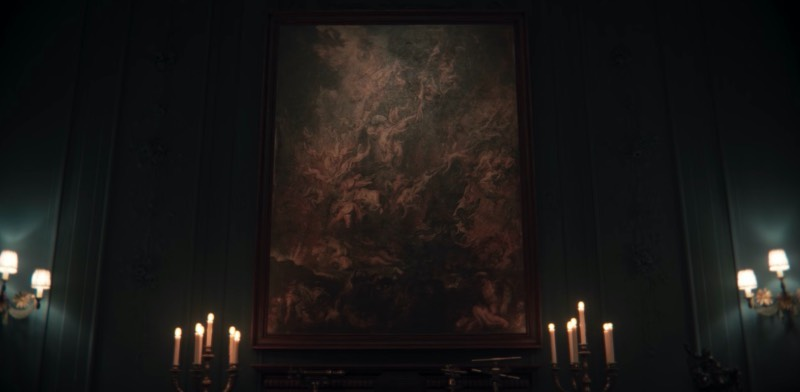 The painting is called The Fall of the Damned and is a monumental religious artwork painted by Peter Paul Rubens in 1620. The picture shows a complex mass of bodies being hurled into the abyss by archangel Michael. The original artwork can be found at the Alte Pinakothek in Munich, where my sister saw it and shared it with me.