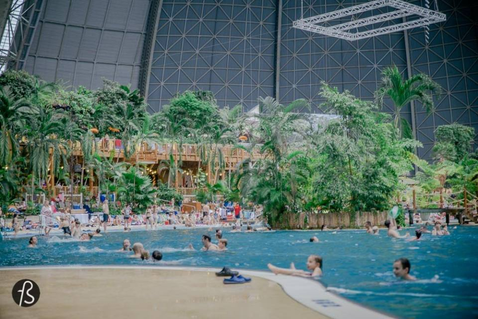 Tropical Islands: Swimming in a tropical paradise inside an aircraft hangar close to Berlin