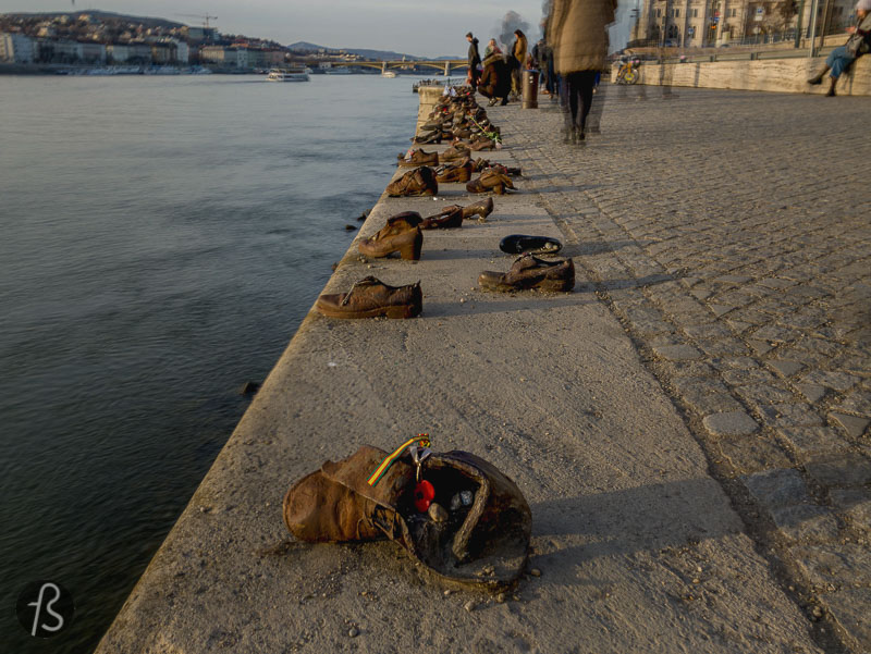 Shoes on the Danube Bank in Budapest