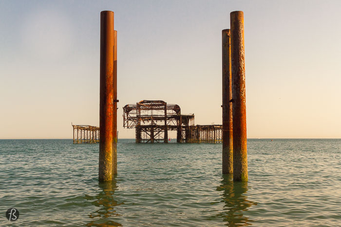 The Ruined West Pier in Brighton