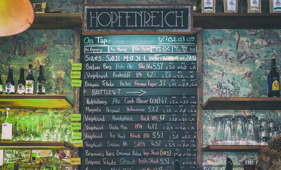 Hopfenreich, one of the oldest Craft Beer Bars in Berlin