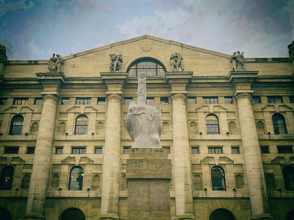 Il Dito in Milan: Libertà, Odio, Vendetta, Eternità in Piazza Affari