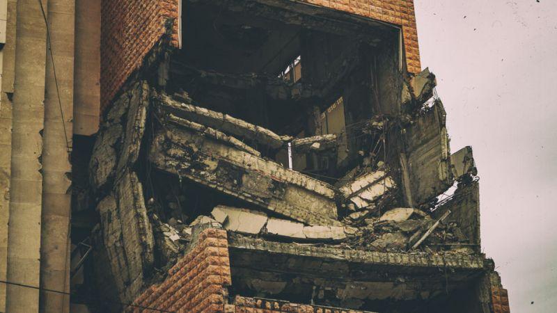 Ruins of Yugoslavian Army Headquarters via @fotostrasse