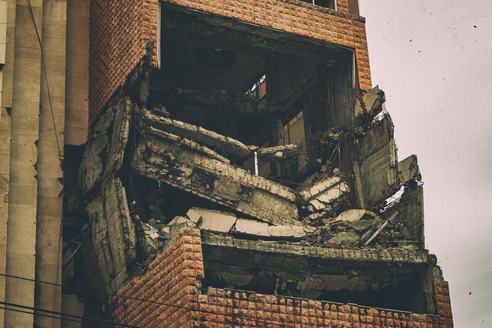 Ruins of Yugoslavian Army Headquarters