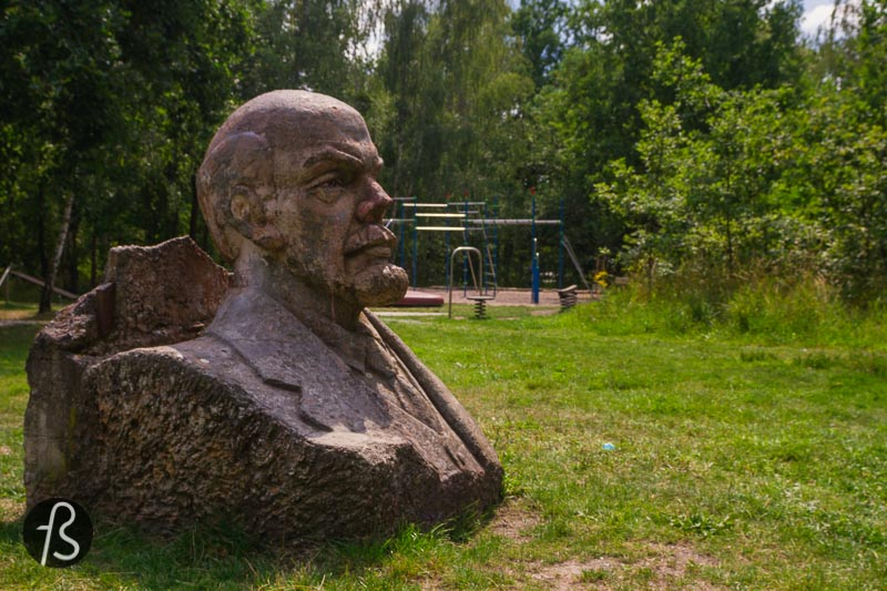It seems like the Lenin statue in the Potsdam Volkspark came secretly to its location. Nobody knows what happened here, but we know that there is a massive Lenin bust sitting peacefully in one of the largest parks in Potsdam. Nobody voted for it to be there, the people that take care of parks didn't do it, but it is there now.