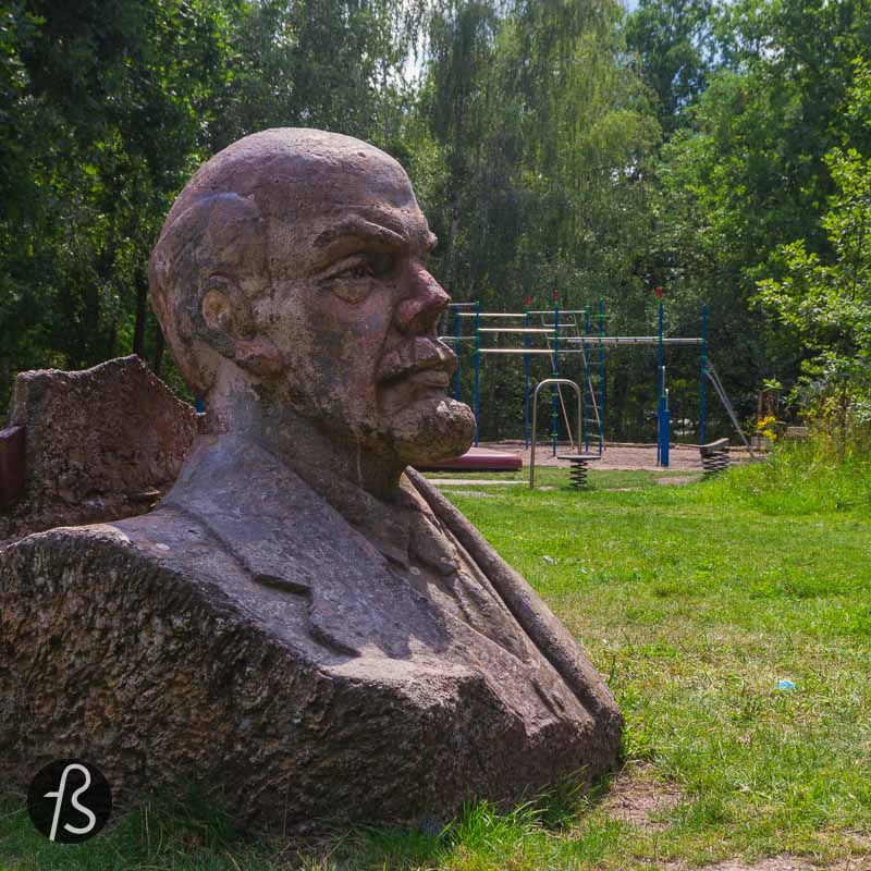 The Lenin Statue in the Potsdam Volkspark