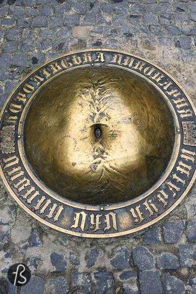 Next to the Lviv town hall and the many small streets around it, there is something unusual hidden in a courtyard. The shape is almost peculiar, and it's a bit hard to understand what you're looking at until you get really close. This is where you will find the Beer Belly of Ukraine.